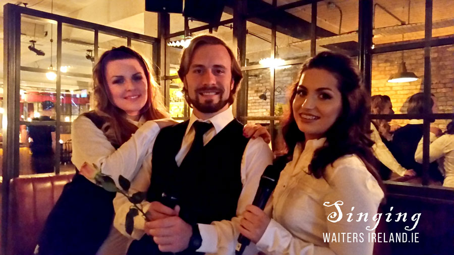 Singing Waiters with Irish Entertainment