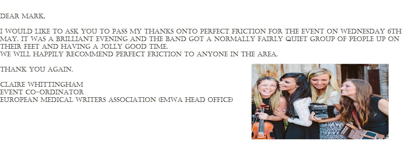 Perfect Friction Testimonial