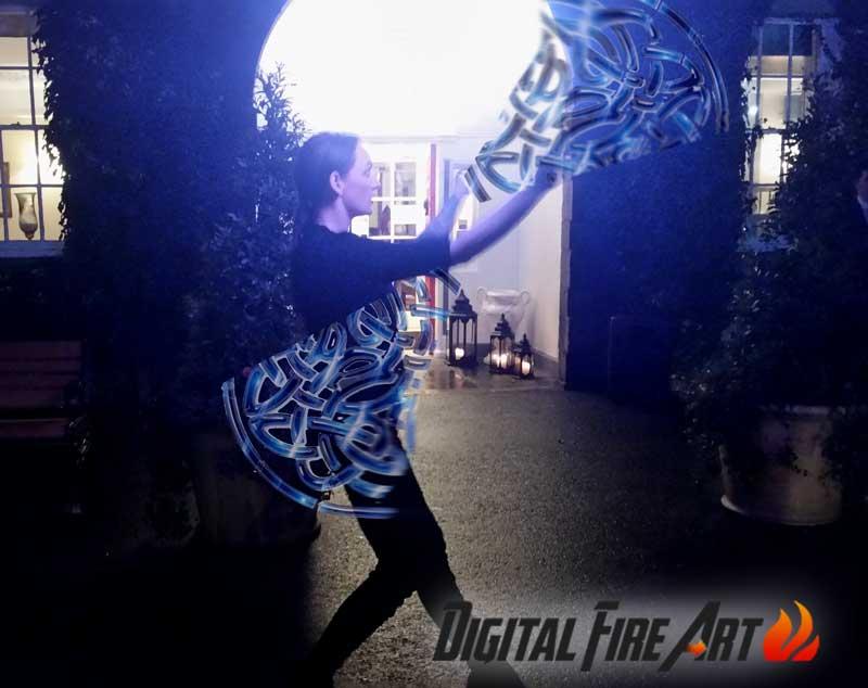 Celtic Digital Fire Art with www.irishentertainment.ie